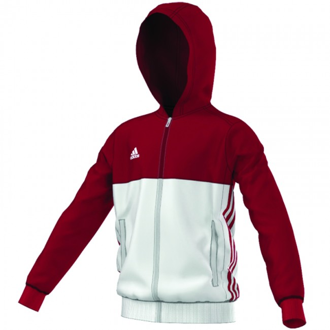 859c9bc7899 adidas T16 Team Hoodie Rood/Wit Youth. Zoom