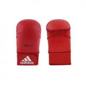 adidas WKF Karatehandschoen Zonder Duim Rood