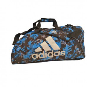 adidas Combat Sporttas Polyester 2 in 1 Blauw Camo/Zilver