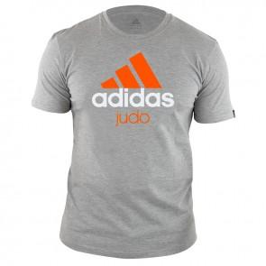 adidas Community T-shirt Grijs/Oranje Judo