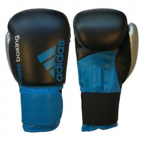 adidas Hybrid 100 (Kick)Bokshandschoenen Cross-boxing Zwart/Blauw/Zilver 16oz