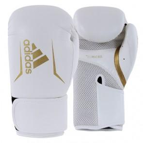 adidas Speed 100 (Kick)Bokshandschoenen Wit/Goud (Handschoenen)