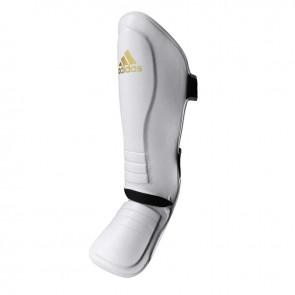adidas Speed Thai Shin-In-Step Scheenbeschermers Wit/Goud Small