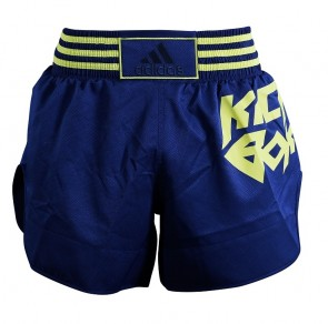 adidas Thai- en Kickboksshort Micro Diamond Geel/Blauw