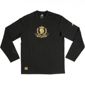 adidas Leisure T-shirt Long Sleeve zwart/goud
