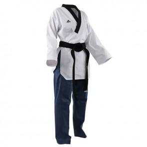 Adidas Poomsae Taekwondopak Dames Wit/Licht Blauw