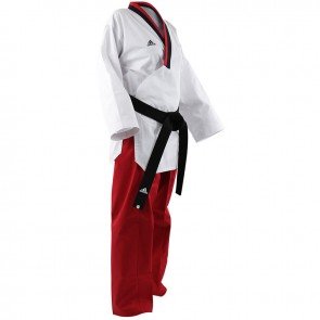 Adidas Poomsae Taekwondopak Girls Wit/Rood