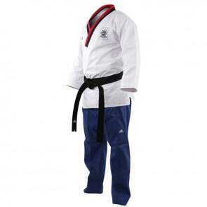 Adidas Poomsae Taekwondopak Boys Wit/Licht Blauw