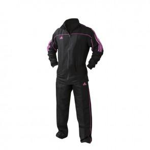 adidas Team Track Trainingsbroek Zwart/Roze